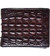 Bóp da cá sấu nam da đuôi nhỏ màu nâu giá 580K SP Cá Sấu Kiều Hưng