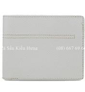Bóp nam da bò màu trắng, phối vải jean giá rẻ nhất tại Kiều Hưng