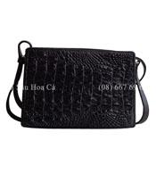 Bóp đầm cá sấu Hoa cà  gai lưng đan viền - DA0008