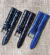 Dây đồng hồ cá sấu Kiều Hưng 18-16mm KH219 nhiều màu Hàng có sẵn