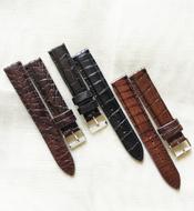 Dây đồng hồ cá sấu Kiều Hưng 18-16mm Nhiều màu Giá rẻ Hàng có sẵn