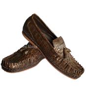 Giày da nam cá sấu da trơn size 41