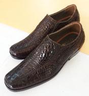 Giày tây cá sấu Kiều Hưng. LM5399  giảm 22% . Màu nâu BH 3 năm.
