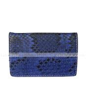 Hộp namecard da trăn Hoa Cà màu xanh dương - 9305