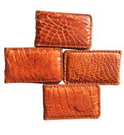 Kẹp tiền da cá sấu màu cam vàng hít nam châm mạnh giá rẻ Kiều Hưng