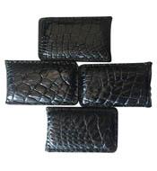 Kẹp tiền da cá sấu màu đen hít nam châm mạnh giá rẻ tại Kiều Hưng