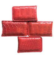 Kẹp tiền da cá sấu màu đỏ, hít nam châm mạnh giá rẻ tại Kiều Hưng