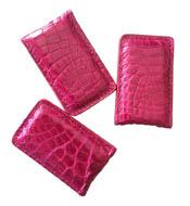 Kẹp tiền da cá sấu màu hồng hít nam châm mạnh giá rẻ tại Kiều Hưng