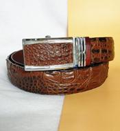 Thắt lưng cá sấu Kiều Hưng 4F LM1149, màu nâu. BH 3 năm. Có sẵn