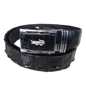 Thắt lưng da cá sấu da gai lưng màu đen 4F giá rẻ Cá Sấu Kiều Hưng