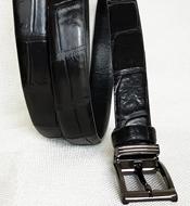 Thắt lưng nữ cá sấu hoa cà 2.5F x 1m20 - 3164. Màu đen. Có sẵn