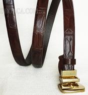 Thắt lưng nữ cá sấu hoa cà 1.5F x 1m20 - 3194. Màu nâu. Có sẵn