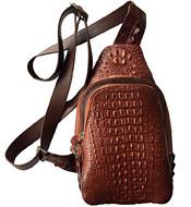 Túi bao tử  da cá sấu da nguyên con kiểu dáng năng động nhất