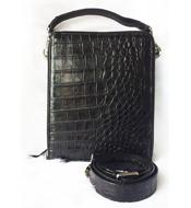 Túi đeo chéo da cá sấu da bụng LM5199 Màu đen BH 3 năm đổi 30 ngày