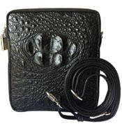 Túi đeo chéo da cá sấu mini cao cấp màu đen - 0208
