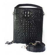 Túi đeo chéo da cá sấu 2 khoá màu đen LM5199 BH 3 năm đổi 30 ngày