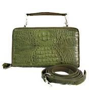 Túi đeo chéo da cá sấu nữ LM4299 xanh lá BH 3 năm, đổi trả 30 ngày