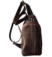Túi bao tử da cá sấu da nguyên con màu nâu dành cho giới trẻ mới nhất