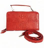 Túi đeo chéo da cá sấu nữ LM4299 màu đỏ BH 3 năm, đổi trả 30 ngày