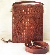 Túi đeo chéo cá sấu Kiều Hưng LM5199 Nâu đỏ. BH 3 năm Hàng có sẵn