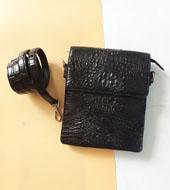 Túi đeo chéo cá sấu Kiều Hưng - KH6999, đen. BH 3 năm Hàng có sẵn