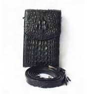 Túi đeo điện thoại da cá sấu nữ màu đen LM3199 BH 3 năm đổi 30 ngày