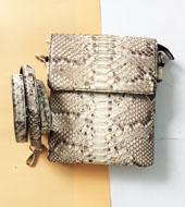 Túi đeo chéo da trăn da vân tự nhiên 100% giá cực rẻ tại Kiều Hưng