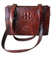 Túi xách nữ da cá sấu nâu đỏ hàng hiệu giá rẻ tại Cá Sấu Kiều Hưng