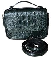 Túi xách da cá sấu nữ - 4870, màu xanh. BH 3 năm, đổi 30 ngày!