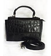 Túi xách da cá sấu nữ màu đen LM5099. BH 3 năm, đổi trả 30 ngày!