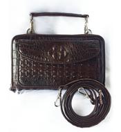 Túi đeo chéo da cá sấu màu nâu LM3899. BH 3 năm, đổi trả 30 ngày!