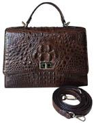 Túi xách nữ da cá sấu màu nâu hàng hiệu giá rẻ Cá Sấu Kiều Hưng