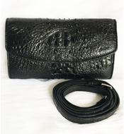 Bóp đầm cá sấu Kiều Hưng loại nhỏ - LM3699. Nâu Giảm giá sốc