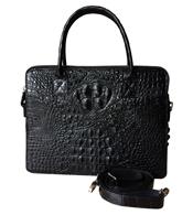 Túi xách cầm tay nam da cá sấu màu nâu BH 3 năm giá rẻ Kiều Hưng