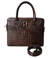 Túi xách cầm tay da cá sấu màu nâu-KH24 BH 3 năm giá rẻ Kiều Hưng
