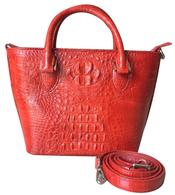 Túi xách da cá sấu nữ cầm tay màu đỏ giá rẻ tại Cá Sấu Kiều Hưng