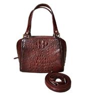 Túi xách da cá sấu nữ cầm tay, đeo vai nâu đỏ tại Cá Sấu Kiều Hưng