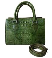 Túi xách da cá sấu nữ cầm tay màu xanh giá rẻ tại Cá Sấu Kiều Hưng