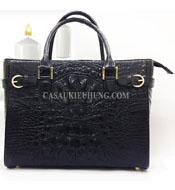 Túi xách nữ da cá sấu cầm tay loại lớn màu đen - 7695 Kiều Hưng