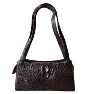 Túi xách da cá sấu nữ cầm tay màu nâu đất giá rẻ Cá Sấu Kiều Hưng