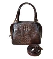 Túi xách da cá sấu nữ cầm tay, đeo vai màu nâu tại Cá Sấu Kiều Hưng