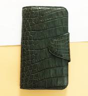 Ví da cá sấu Kiều Hưng 2 gấp BTH1400. Màu xanh lá. Giá rẻ. Có sẵn