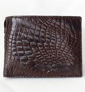 Bóp da cá sấu nam da tay. Màu nâu. BHT899. Hàng có sẵn. BH 3 năm