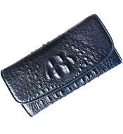 Sale ví da cá sấu nữ 3 gấp có dây đeo cổ tay tại Cá Sấu Kiều Hưng
