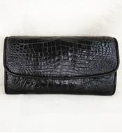 Ví da cá sấu cầm tay Kiều Hưng. LM1799. Đen. Giá rẻ. Hàng có sẵn
