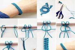 Cách làm vòng tay handmade bằng dây bằng chỉ đơn giản nhất 2020