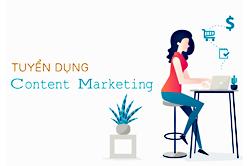 Tuyển dung- Nhân Viên Content Marketing. Lương 8Tr/ tháng + HH